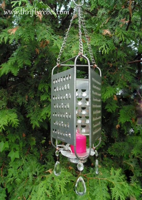 repurposed-grater-candle-holder