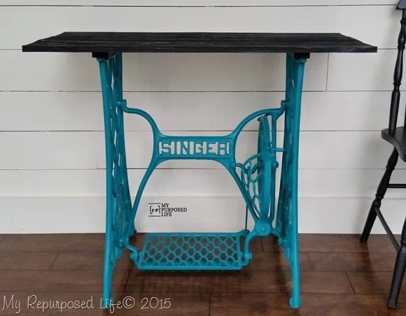 turquoise-singer-sewing-treadle-table