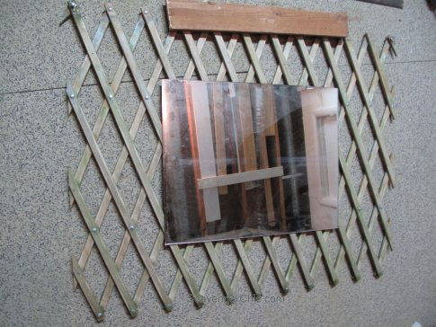 Repurposed Baby Gate Mirror diy