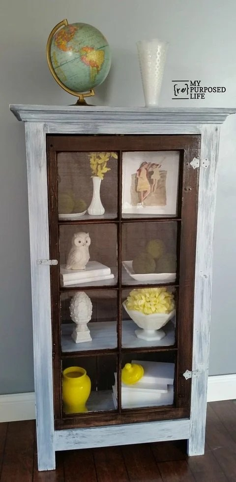 Diy Tall Window Cabinet My Repurposed Life 174
