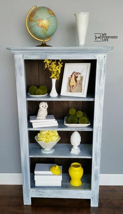 MyRepurposedLife tall diy window cabinet bookshelf