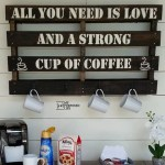 repurposed pallet coffee cup rack