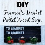 Pallet Wood Farmer's Market Sign