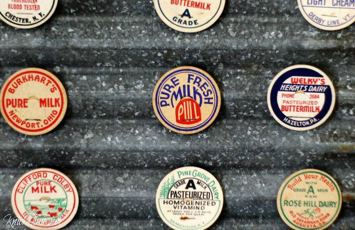 antique milk bottle caps