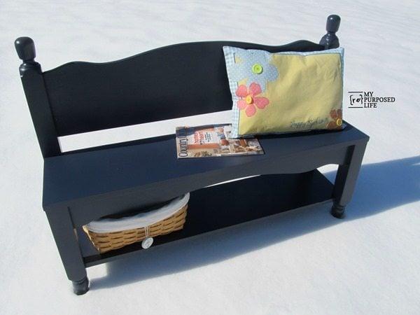 navy blue bench. My-repurposed-life-navy-blue-small-headboard-bench Navy Blue Bench