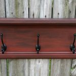 Coat Rack from Repurposed Cabinet Door