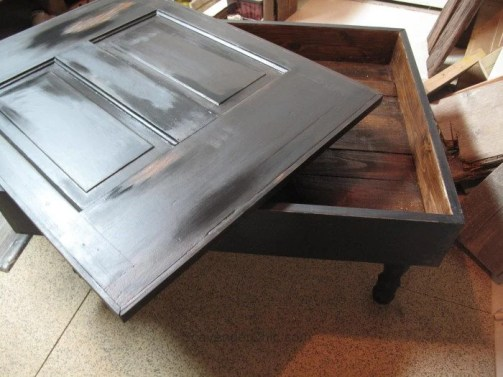 Vintage Door Coffee Table painting exterior