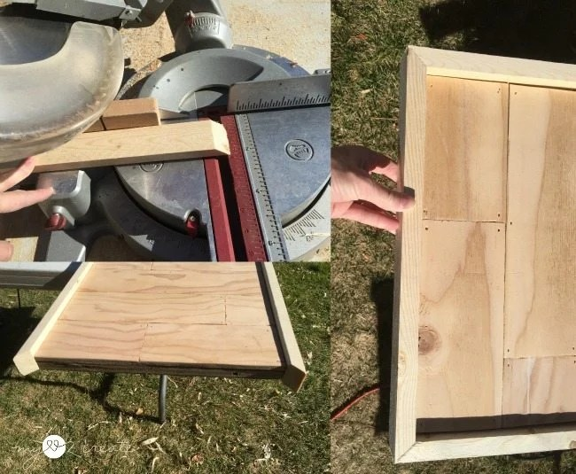 framing out planked board with 1x2's
