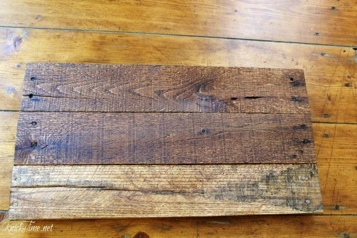 stained pallet wood