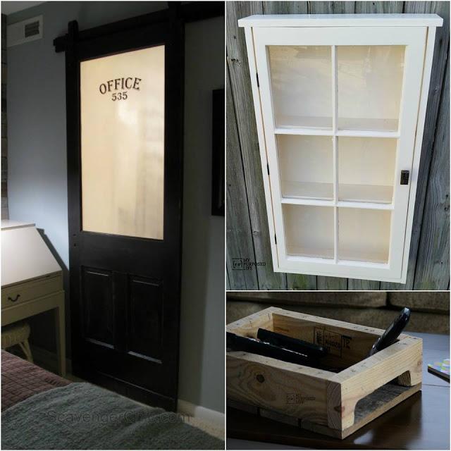 Sliding barn door, cupboard and coffee table tray DIY