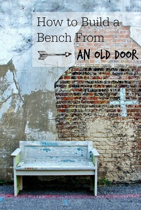 how to build a bench out of an old door
