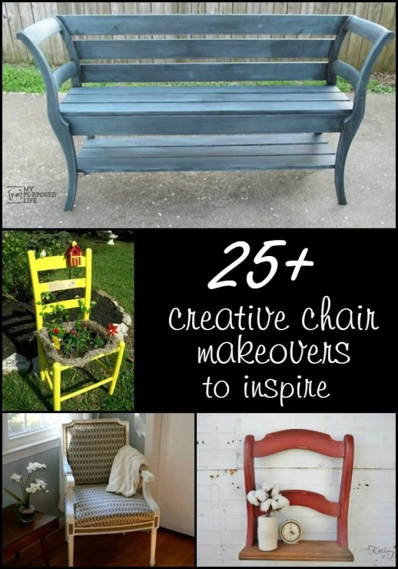 chair makeovers to inspire you MyRepurposedLife.com