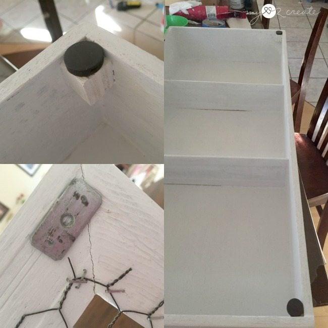 adding DIY door magnet catches