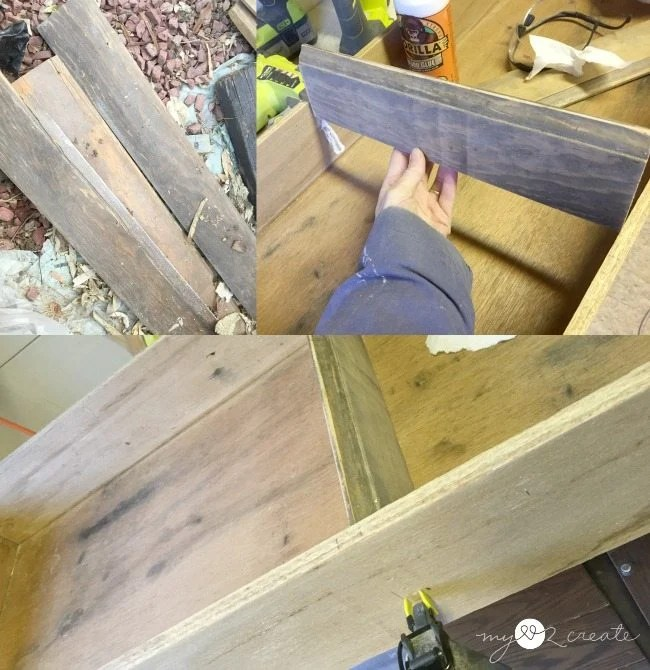 adding trim shelves into drawer