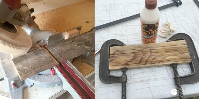 clamping and cutting wood