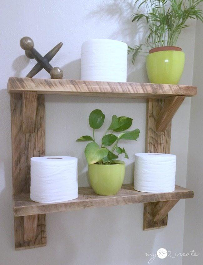 Reclaimed Wood Shelves