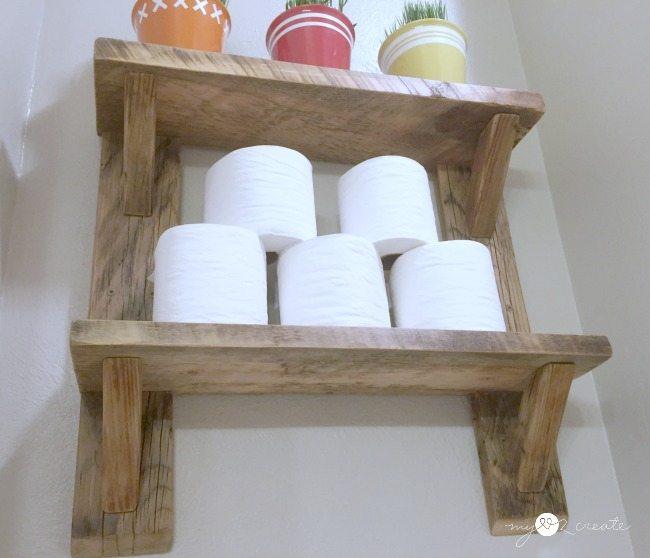 bottom shot of shelves