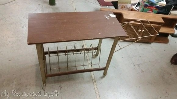 vintage record table