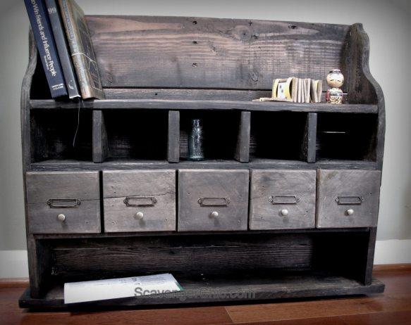 Pallet Wood Storage Organizer Shelf