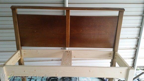 basic headboard bench construction