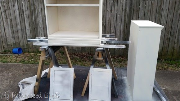 after 1 coat of chalky paint primer