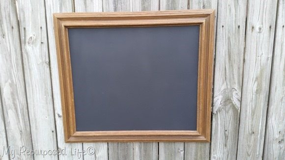 brown picture frame chalkboard