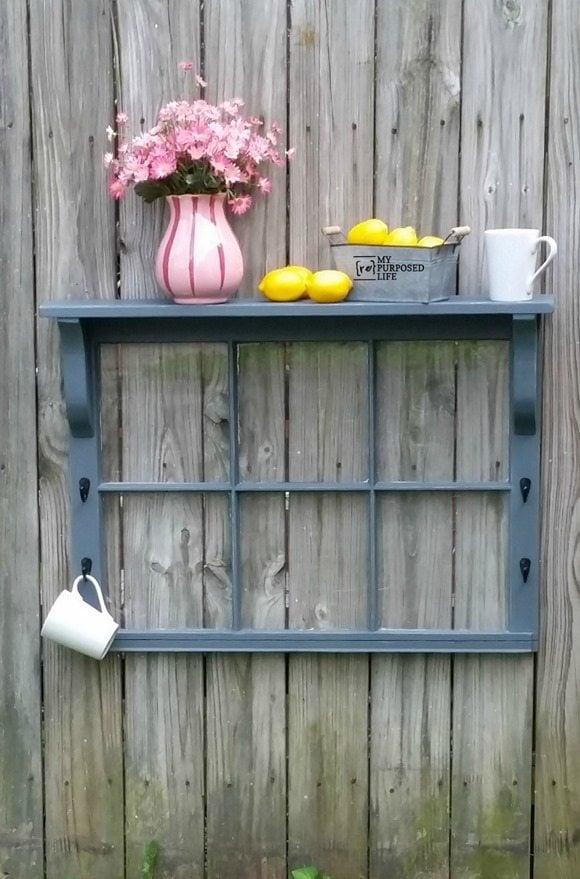 easy window shelf project MyRepurposedLife.com
