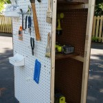 Rolling Tool Cart with Pegboard Storage