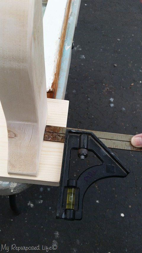 window shelf wooden brace