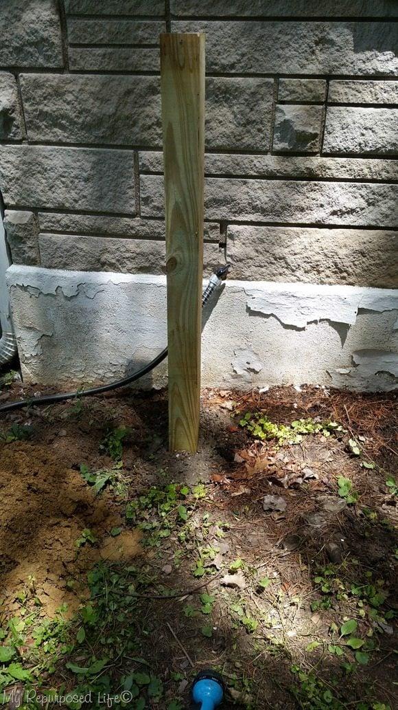 4x4 post hose hanger