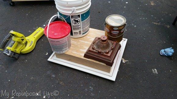 add plywood back to easy framed shadow box