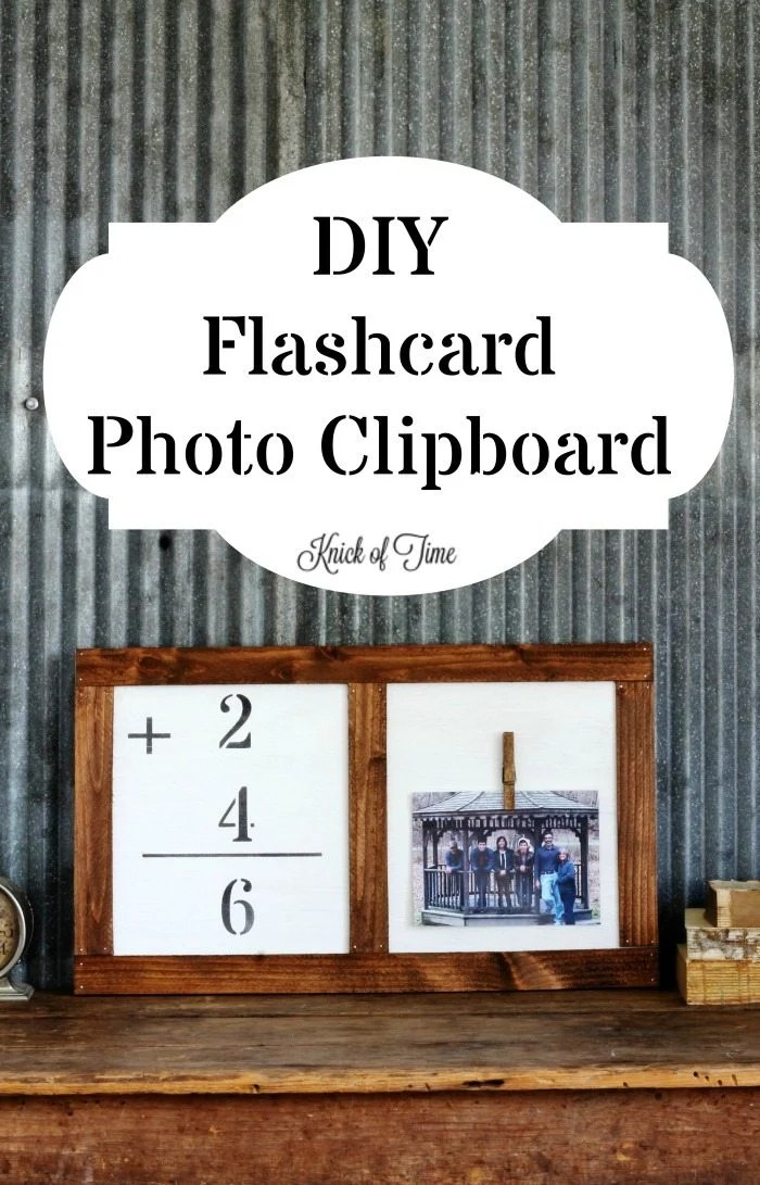 DIY flashcard photo clipboard