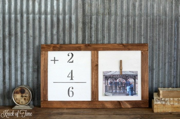 DIY Flashcard Photo Clipboard by Knick of Time