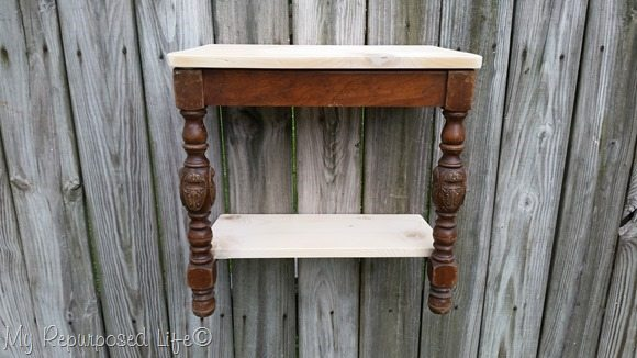 how to repurposed chair wall shelf