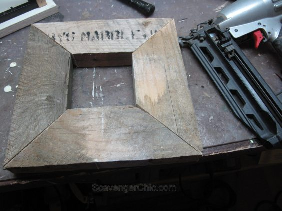 DIY Lantern from scrap wood and frames-007