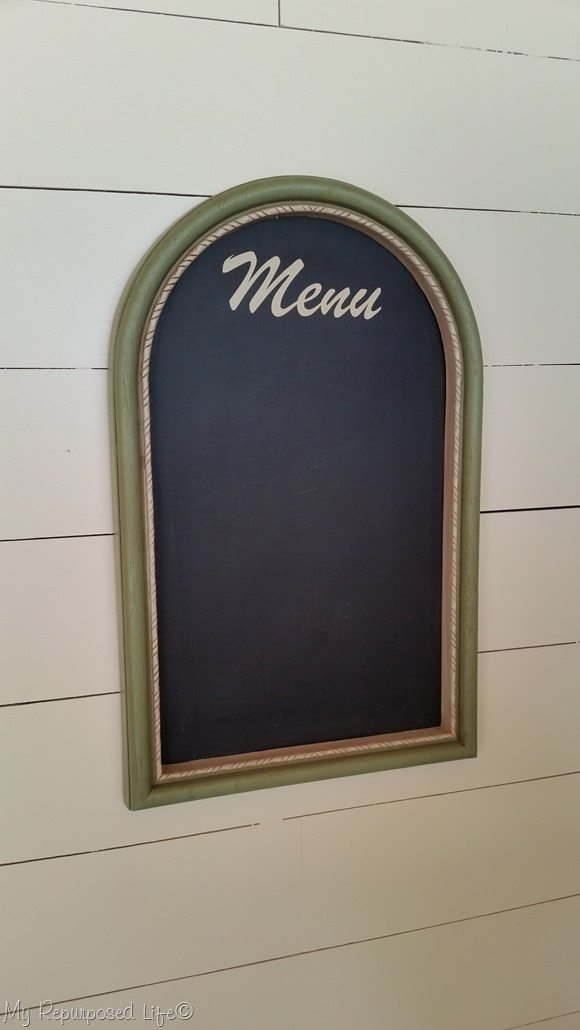 artwork into menu chalkboard