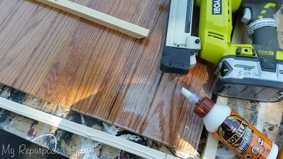 hardwood flooring table top gorilla wood glue ryobi nail gun