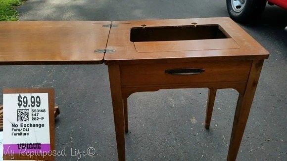 seven dollar sewing machine cabinet