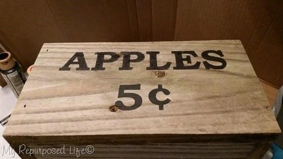 apple caddy black stencil