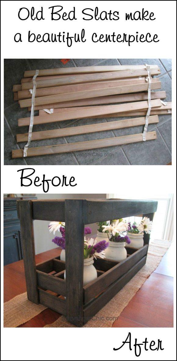 old-bed-slats-make-a-beautiful-centerpiece-scavenger-chic-for-myrepurposedlife-com