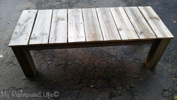 Reclaimed Wood Coffee Table My Repurposed Life