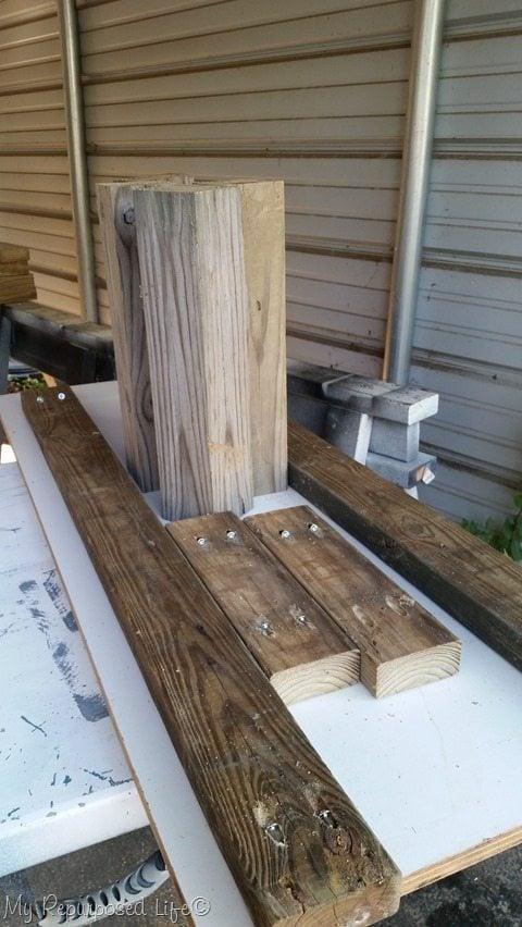 reclaimed wood coffee table my