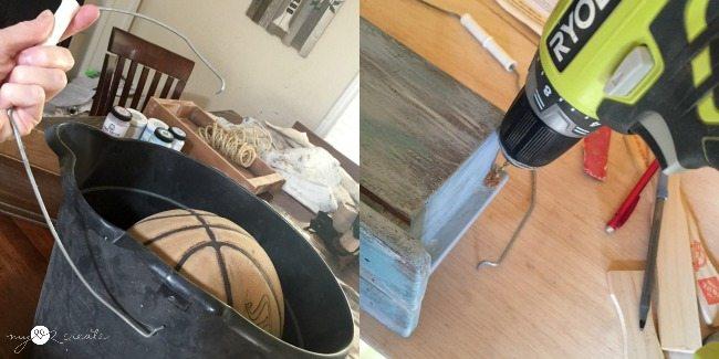 adding bucket handle to caddy