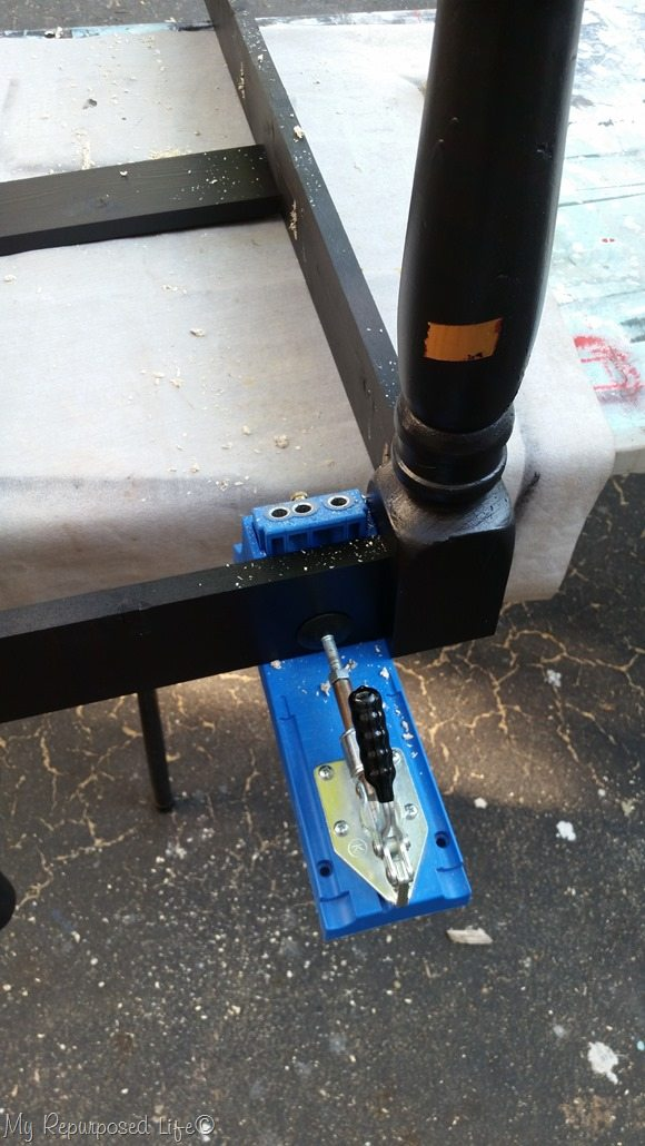 attach seat with pocket hole screws