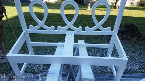 headboard bench white primer finish max paint sprayer