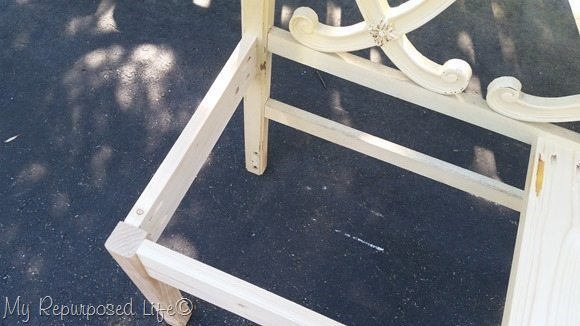 pocket holes join bench frame