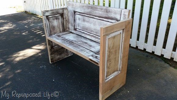rustic door bench