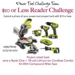 announcing a challenge with a ryobi giveaway