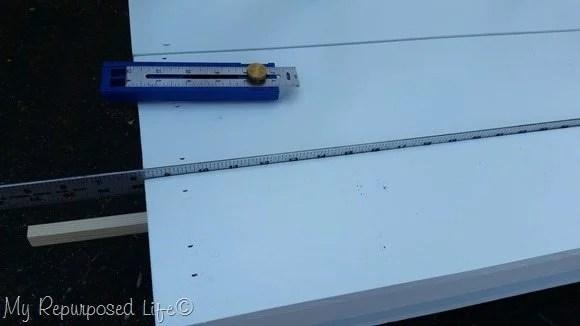 spacing headboard bench seat slats