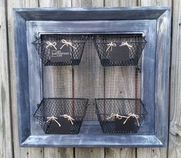wire basket organizer MyRepurposedLife.com